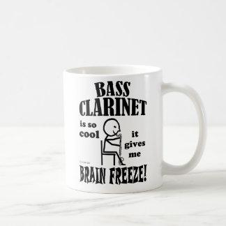 Clarinete bajo, helada del cerebro tazas