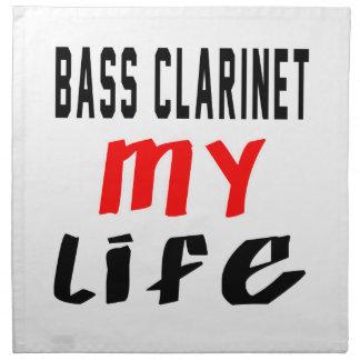 Clarinete bajo mi vida servilleta imprimida