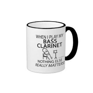 Clarinete bajo nada materias otras taza