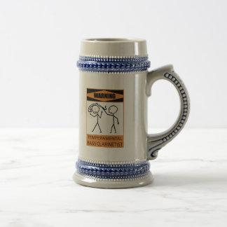 Clarinetist bajo temperamental amonestador taza de café
