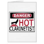 Clarinetist caliente felicitación