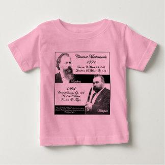 Clarinetist Mühlfeld inspired Brahms Baby T-Shirt