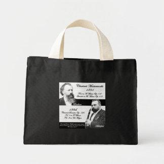 Clarinetist Mühlfeld inspired Brahms Canvas Bags