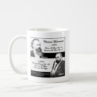 Clarinetist Mühlfeld inspired Brahms Classic White Coffee Mug