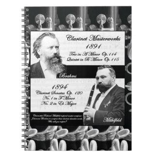 Clarinetist Mühlfeld inspired Brahms Spiral Note Books