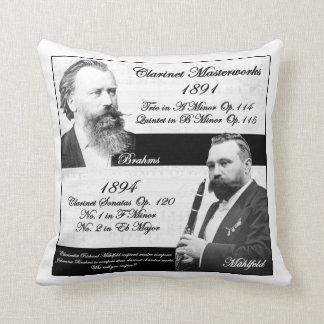 Clarinetist Mühlfeld inspired Brahms Pillows