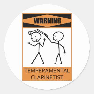 Clarinetist temperamental amonestador etiquetas