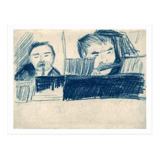 Clarinetist y jugador de flautín, Vincent van Gogh Tarjeta Postal