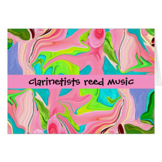 clarinetists humor greeting card