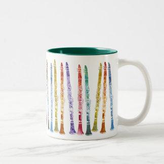 Clarinets del creyón tazas de café