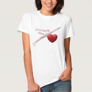 """""""Clarinets Have Heart"""" Clarinet Shirt"""