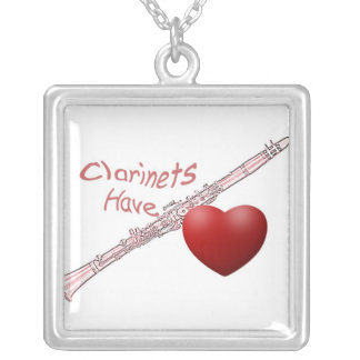 """""""Clarinets Have Heart"""" Necklace for Clarinetist"""