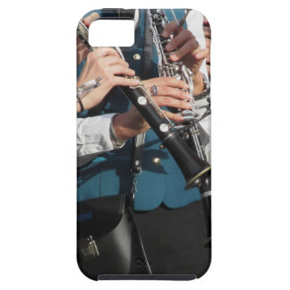 Clarinets in the hands of the musicians iPhone SE/5/5s case