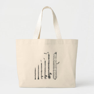 clarinets large tote bag