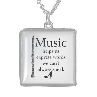 Clarinets Music Helps Us Express Words Jewelry