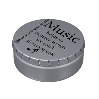 Clarinets Music Helps Us Express Words Kitchen Jelly Belly Tins
