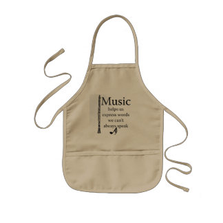 Clarinets Music Helps Us Express Words Kitchen Kids' Apron