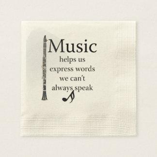 Clarinets Music Helps Us Express Words Kitchen Napkin