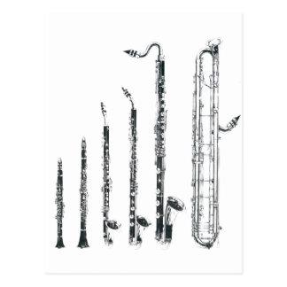 clarinets postcard