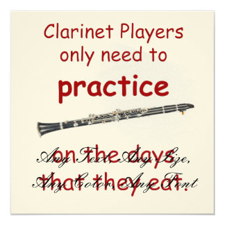 Clarinets Practice on days they Eat Cards