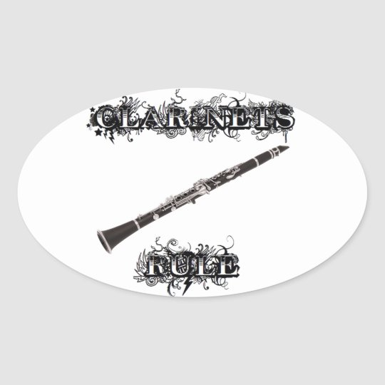 Clarinets Rule Oval Sticker