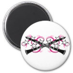 Clarinets with Stars and Swirls 2 Inch Round Magnet