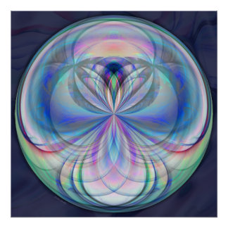 Clarity Mandala - Fractal Artwork Print