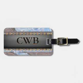 Clarity Modern Monogram Luggage Tag