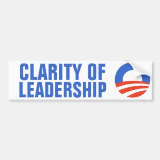 Clarity of Leadership Obama 2012 Car Bumper Sticker