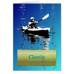 Clarity Zen Kayak Serenity Blue Greeting Card