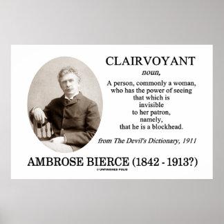 Clarividente de Ambrose Bierce el diccionario del  Poster