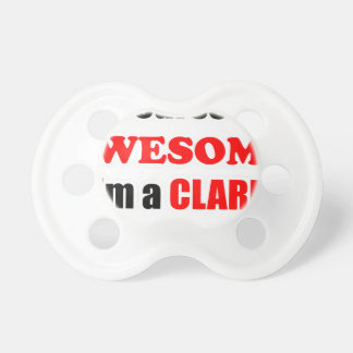 Clark Awesome Family Baby Pacifier