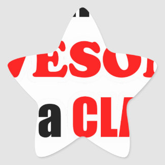Clark Awesome Family Star Sticker