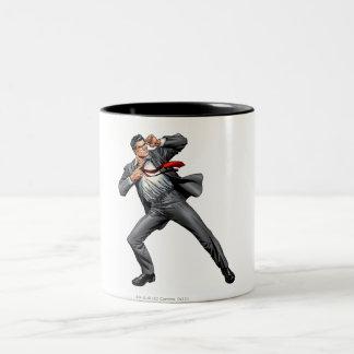 Clark cambia en superhombre taza de café de dos colores