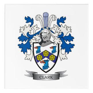 Clark Coat of Arms Acrylic Wall Art