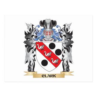 Clark Coat of Arms - Family Crest Postcard