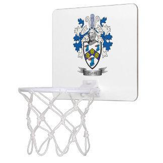 Clark Coat of Arms Mini Basketball Hoop