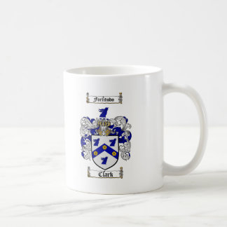 CLARK FAMILY CREST -  CLARK COAT OF ARMS COFFEE MUG