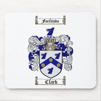 CLARK FAMILY CREST -  CLARK COAT OF ARMS MOUSE PAD