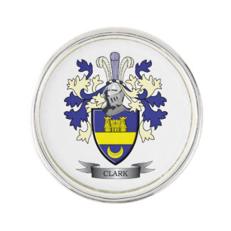 Clark Family Crest Coat of Arms Pin