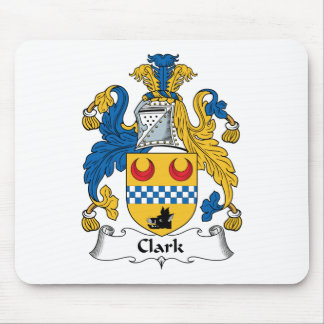 Clark Family Crest Mouse Pad