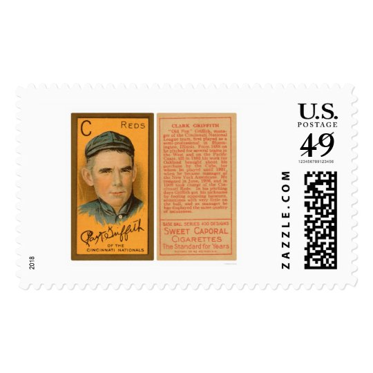 Clark Griffith Reds Baseball 1911 Postage