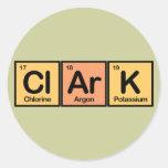 Clark hizo de elementos pegatina redonda