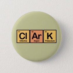 Round Button with Clark made of Elements design