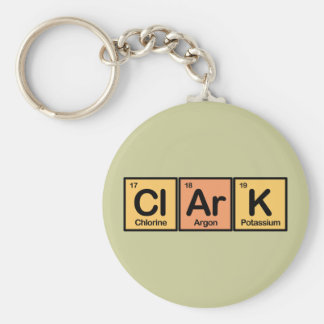 Clark made of Elements Keychain