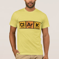 Men's Basic American Apparel T-Shirt with Clark made of Elements design