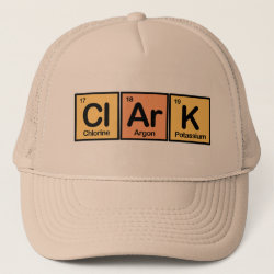 Trucker Hat with Clark made of Elements design