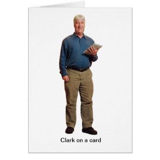 Clark on a card