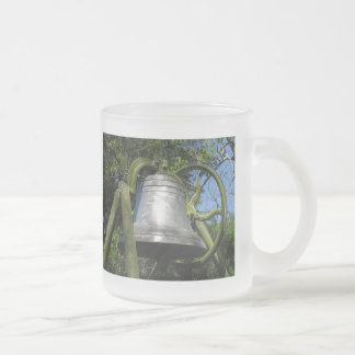 Clark Place Bell 1893 Frosted Glass Coffee Mug