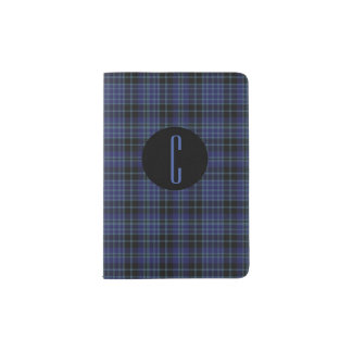 Clark Plaid Monogram Passport Holder
